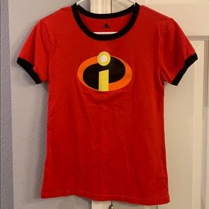 Disney Store Incredibles ringer t shirt size S EUC